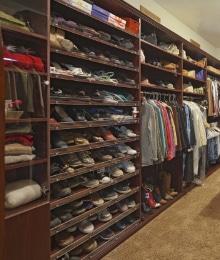 afmetingen kledingkast met schoenenkast